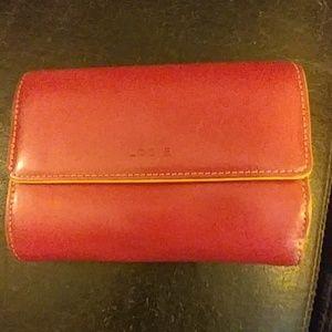 Adorable pink bi fold wallet